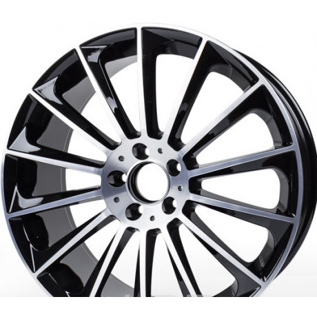 Pack  4x  jantes look AMG turbine Black polish 19'  5x112  class S